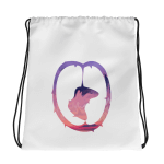 GamerGrindCo Elite Drawstring Bag White